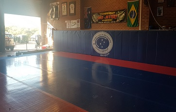 View of our mat with the morning sun